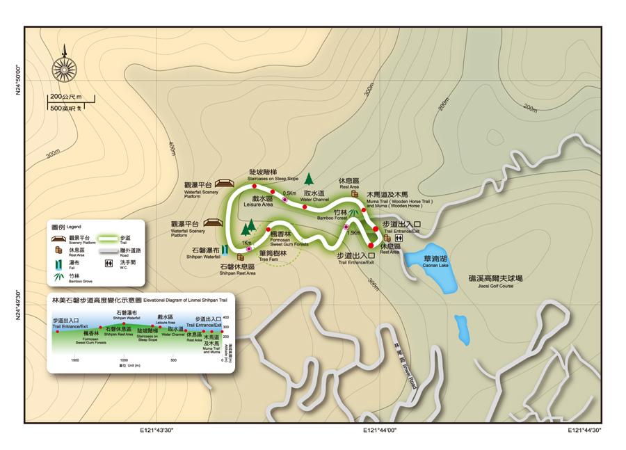 林美石磐步道地圖