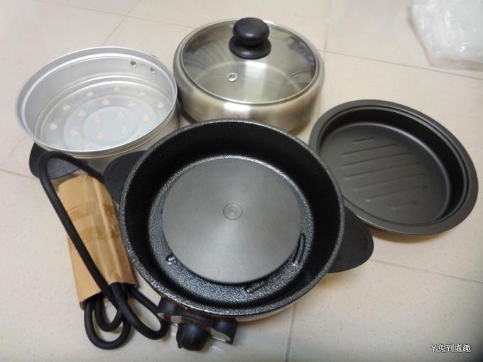 蒸煮烤三用料理鍋