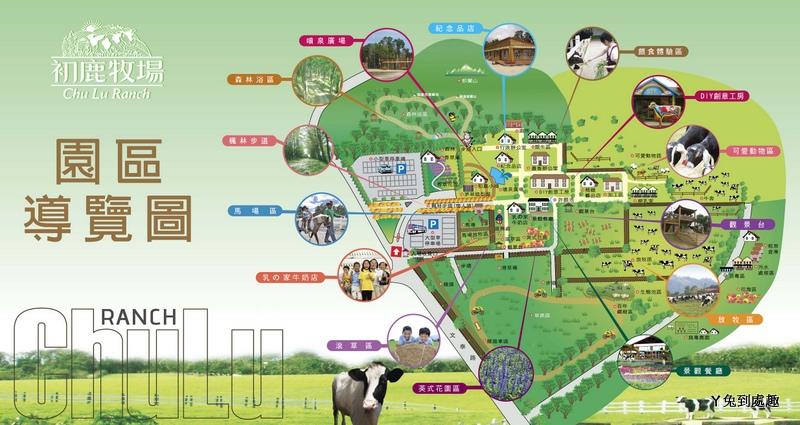 初鹿牧場導覽圖